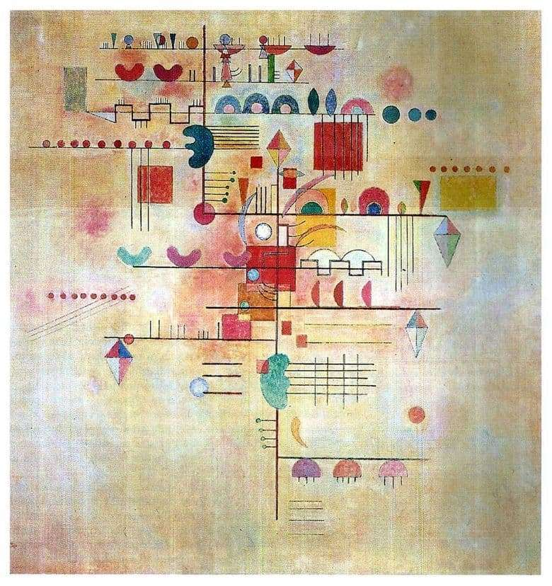 Description of the painting by Vasily Kandinsky Gentle ascent