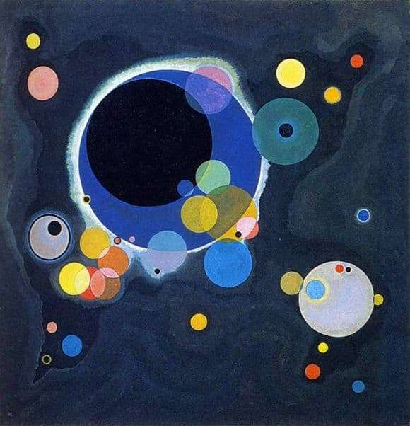 Description of the painting by Wassily Kandinsky A few circles