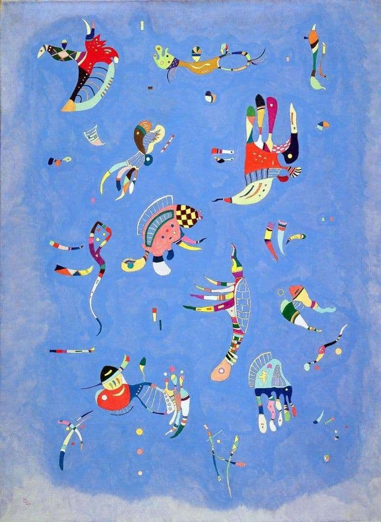 Description paintings by Wassily Kandinsky Blue Sky