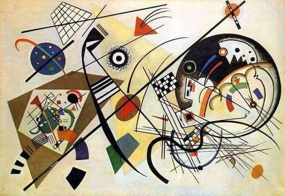 Description of the painting by Wassily Kandinsky Cutting Line