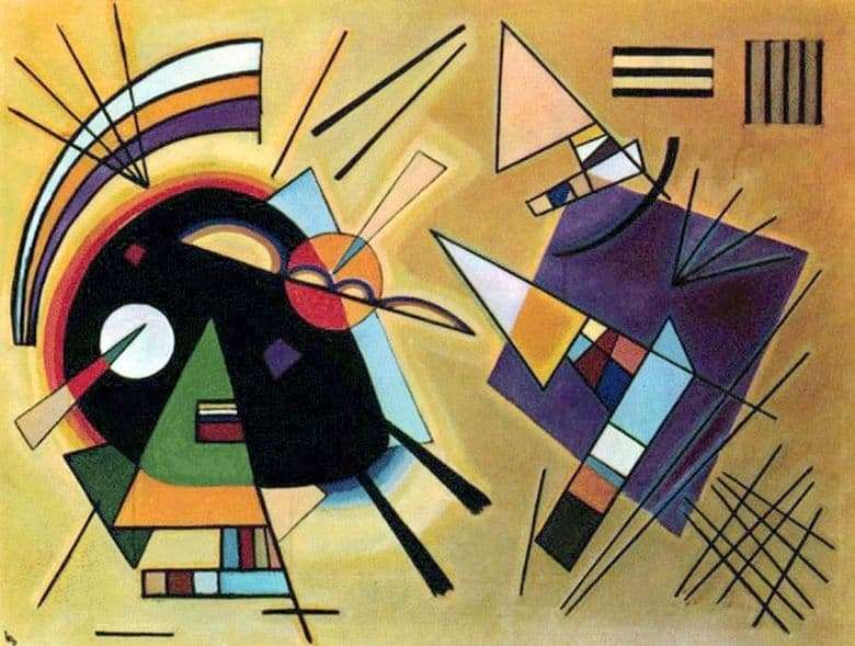 Description of the painting by Wassily Kandinsky Black and Violet (1923)