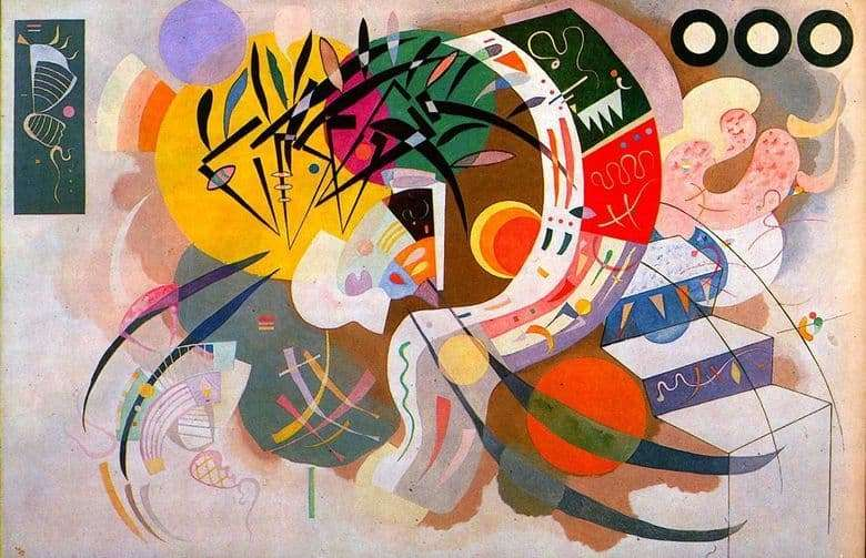 Description of the painting by Wassily Kandinsky Dominant curve