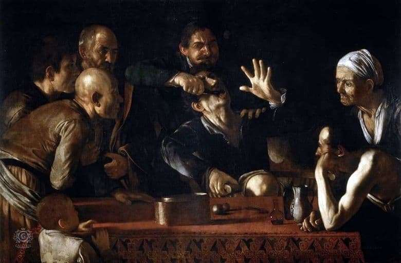 Description of the painting by Merisi da Caravaggio Zuboder (1609)