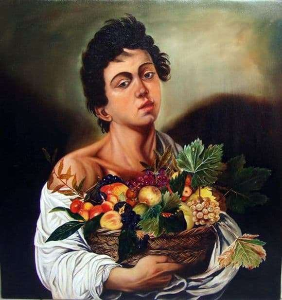 Description of the painting by Michelangelo Merisi da Caravaggio A young man with a basket of fruit