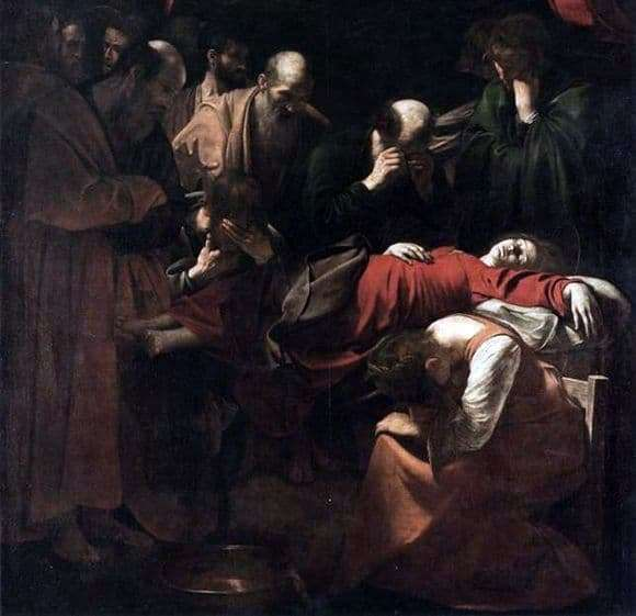 Description of the painting by Michelangelo Merisi da Caravaggio Death of Mary