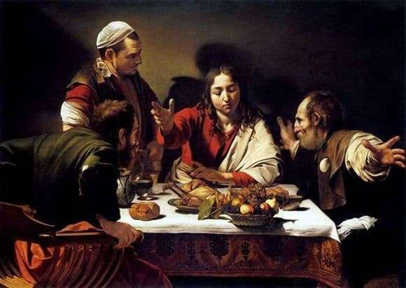 Description of the painting by Michelangelo Merisi da Caravaggio Dinner at Emmaus