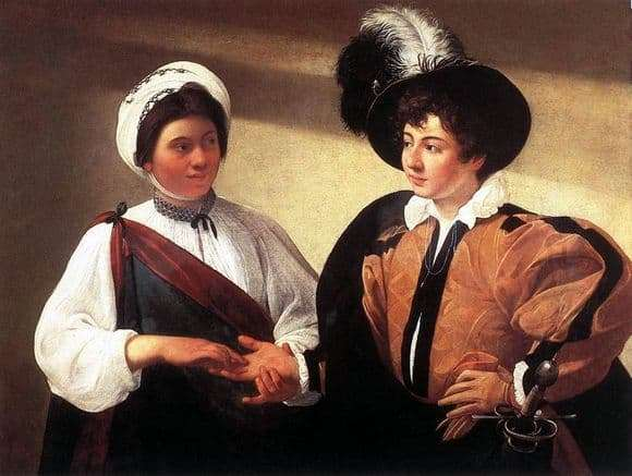 Description of the painting by Caravaggio The Fortune Teller (1595)