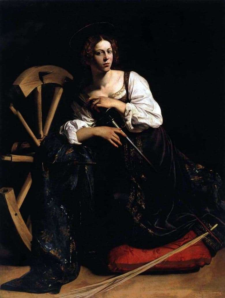Description of the painting by Michelangelo Merisi da Caravaggio Saint Catherine Alekscandria
