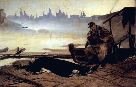 Description of the painting by Vasily Perov drowned