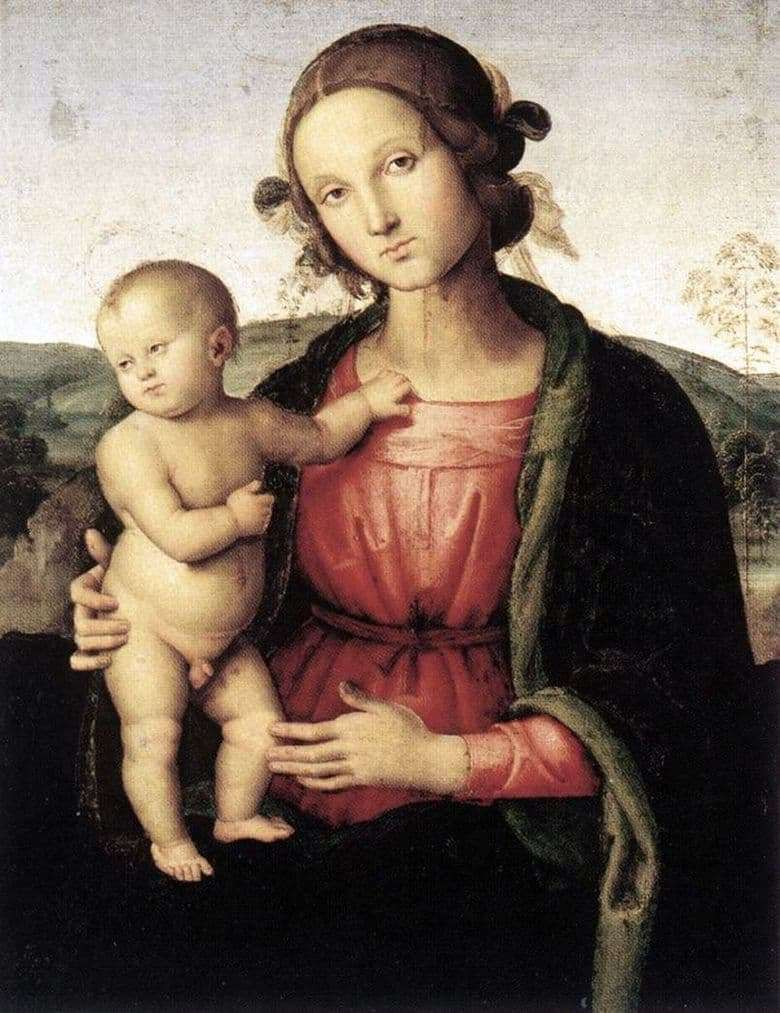 Description of the painting by Pietro Perugino Madonna