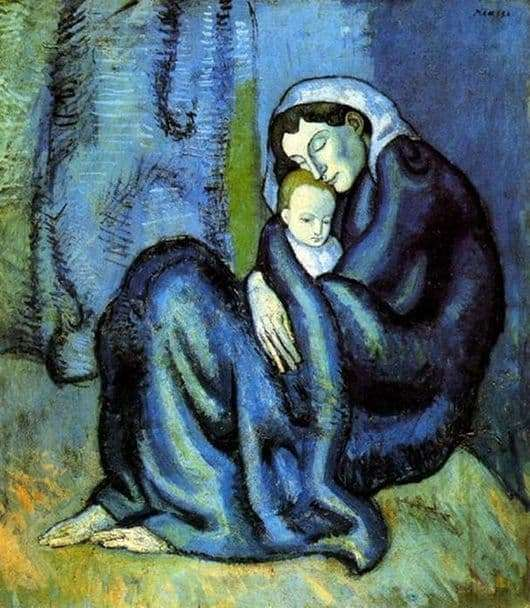 Description of the painting by Pablo Picasso Mother and Child