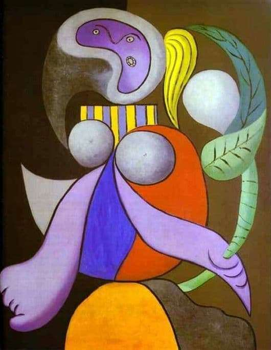 Description of the painting by Pablo Picasso Woman with a flower