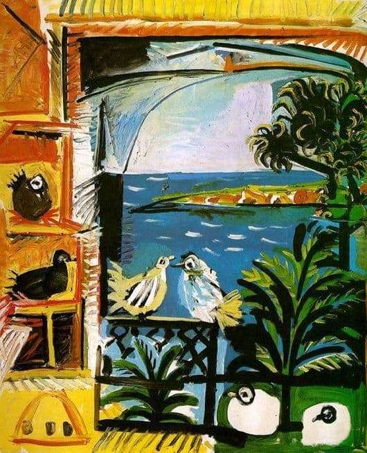 Description of the painting by Pablo Picasso Pigeons