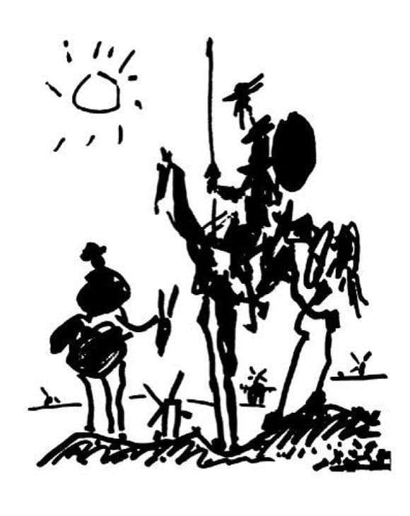 Description of the painting by Pablo Picasso Don Quixote