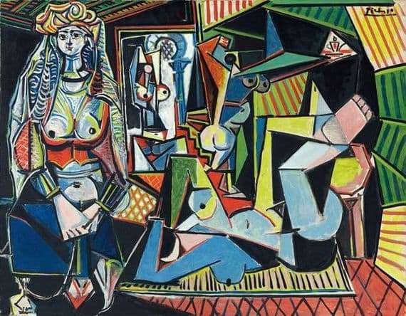 Description of the painting by Pablo Picasso Algerian women