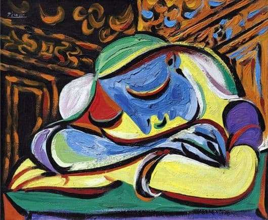 Description of the painting by Pablo Picasso Sleeping Girl