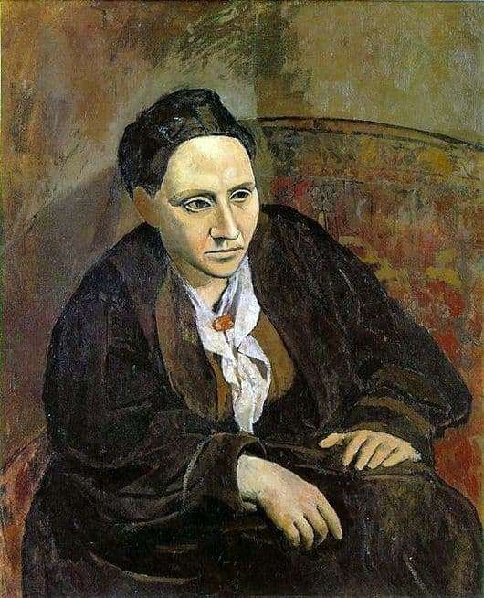 Description of the painting by Pablo Picasso Portrait of Gertrude Stein