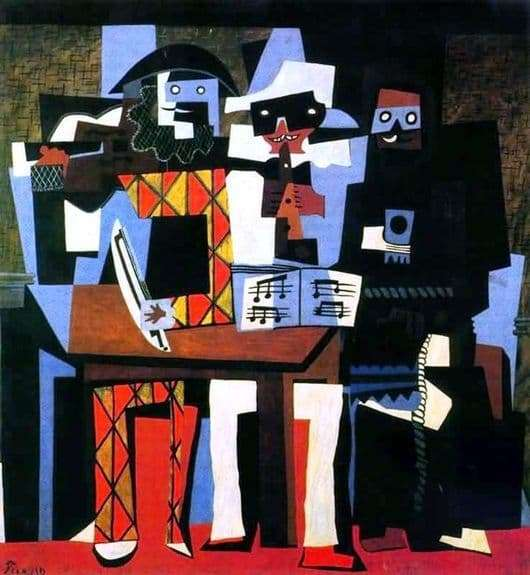 Description of the painting by Pablo Picasso Three Musicians
