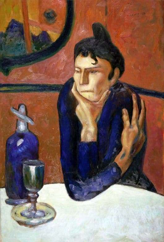 Description of the painting by Pablo Picasso Absinthe lover
