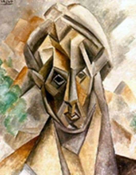 Description of the painting by Pablo Picasso The head of a woman