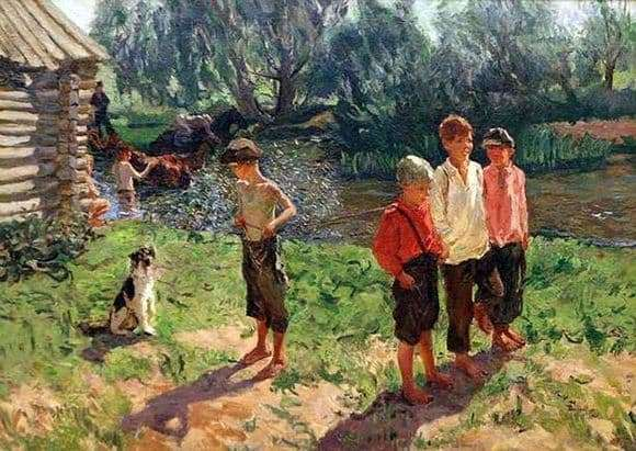 Description of the painting by Arkady Plastov Troika