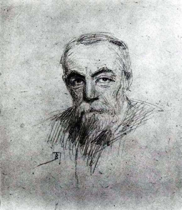 Description of the painting by Vasily Polenov Self portrait