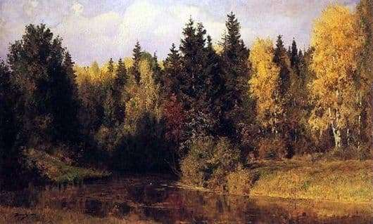 Description of the painting by Vasily Polenov Autumn in Abramtsevo