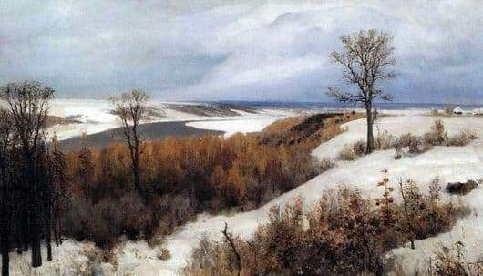 Description of the painting by Vasily Dmitrievich Polenov Early Snow