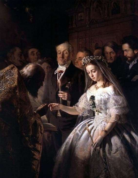 Description of the painting by Vasily Pukirev Unequal marriage