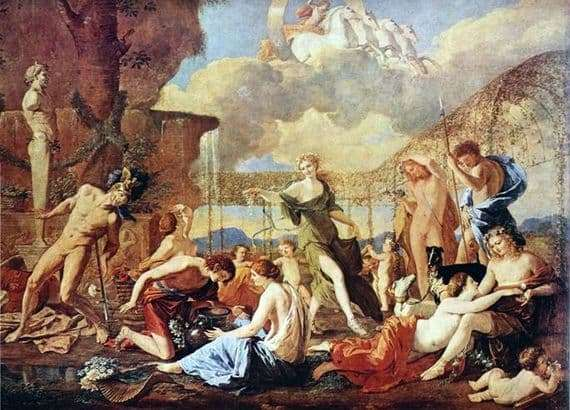 Description of the painting by Nicolas Poussin The Kingdom of Flora