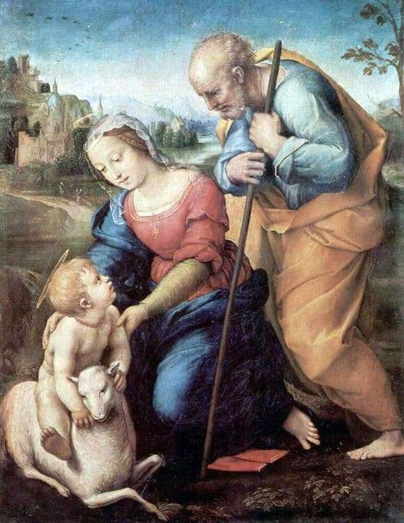 Description of the painting by Raphael Santi Holy Family