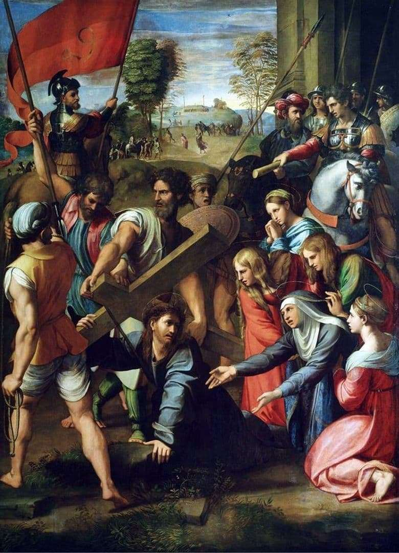 Description of the painting by Raphael Santi Carrying the Cross
