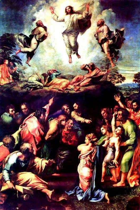 Description of the painting by Raphael Santi Transfiguration