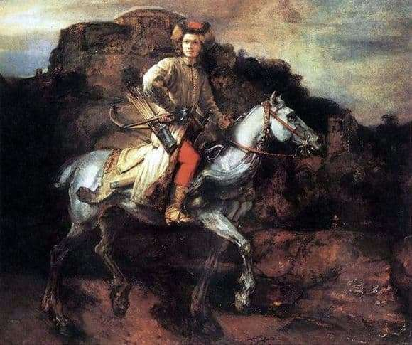 Description of the painting by Rembrandt Polish Horseman