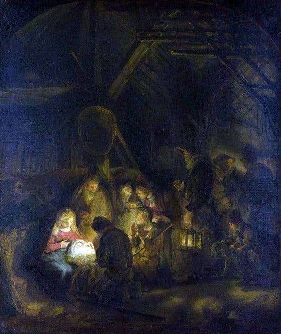 Description of the painting by Rembrandt Harmens Van Rijn Adoration of the Magi