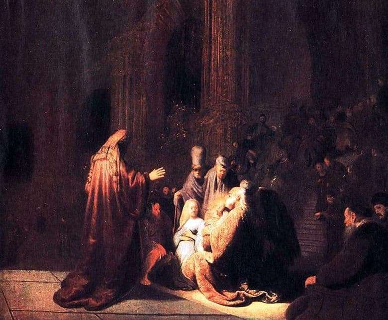 Description of the painting by Rembrandt Harmens van Rijn Bringing to the Temple