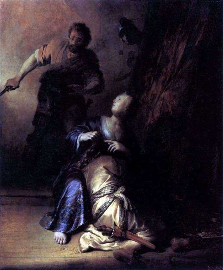 Description of the painting by Rembrandt Harmens van Rijn Samson and Delilah