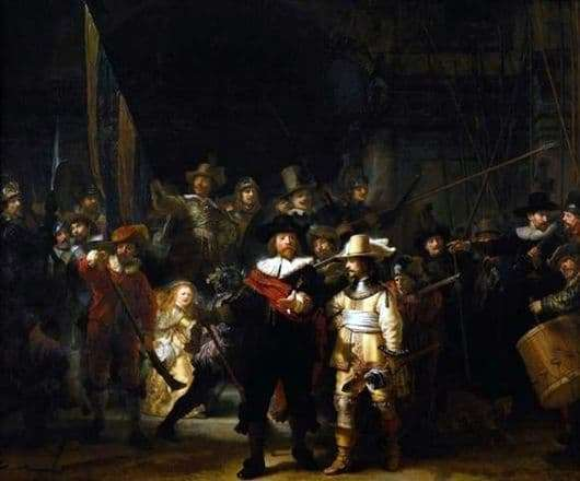 Description of the painting by Rembrandt Night Watch