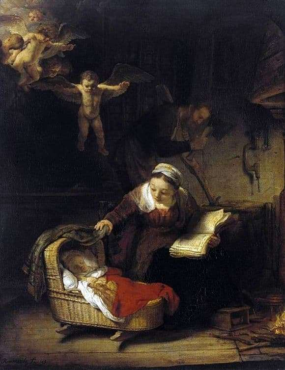 Description of the painting by Rembrandt Harmens van Rijn Holy Family