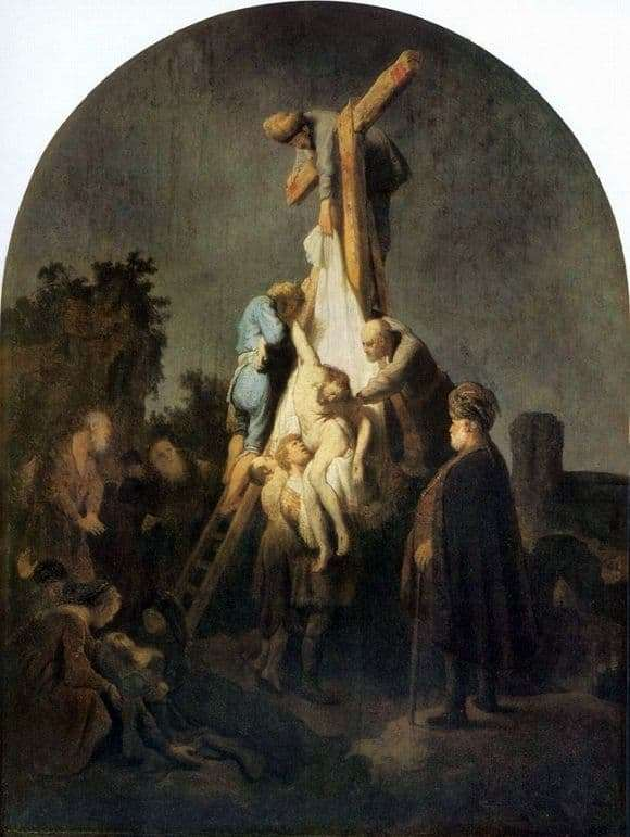 Description of the painting by Rembrandt Harmens van Rijn The Descent from the Cross