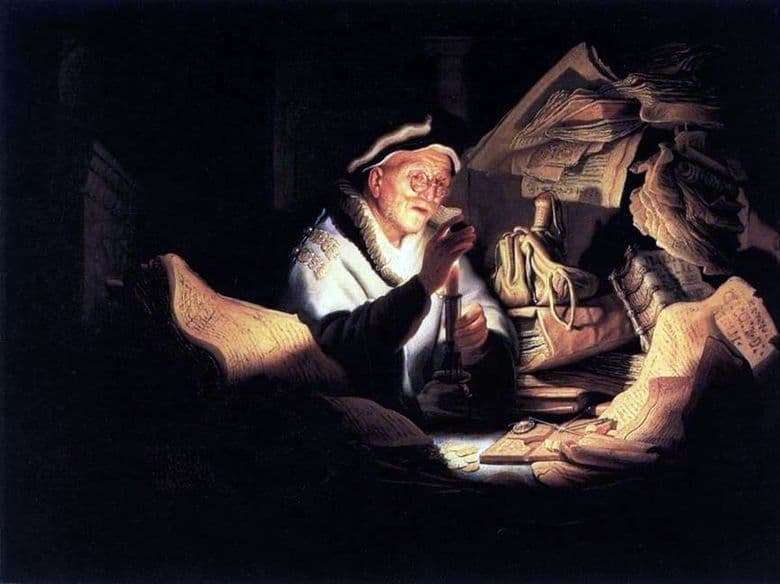 Description of the painting by Rembrandt Harmens van Rijn The Parable of the Rich