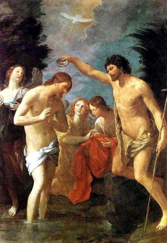 Description of the painting by Guido Reni Baptism of Christ