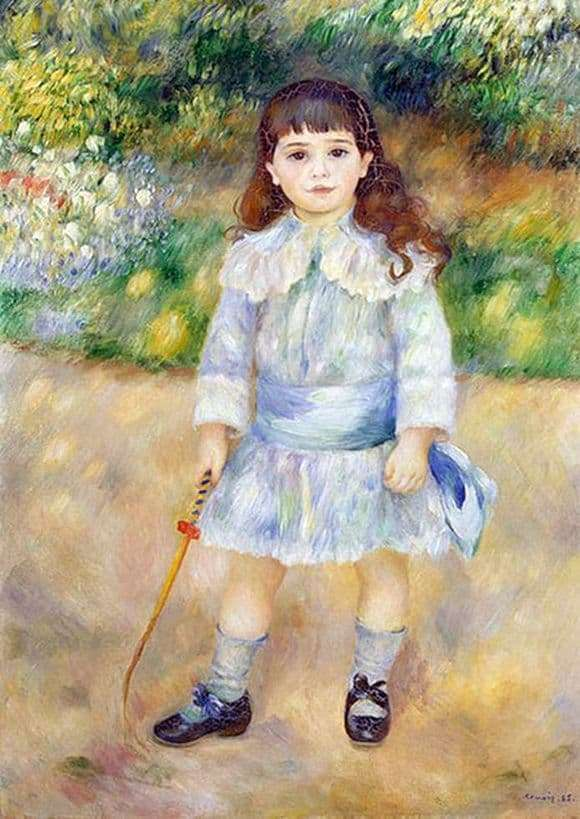 Description of the painting by Pierre Auguste Renoir A child with a whip