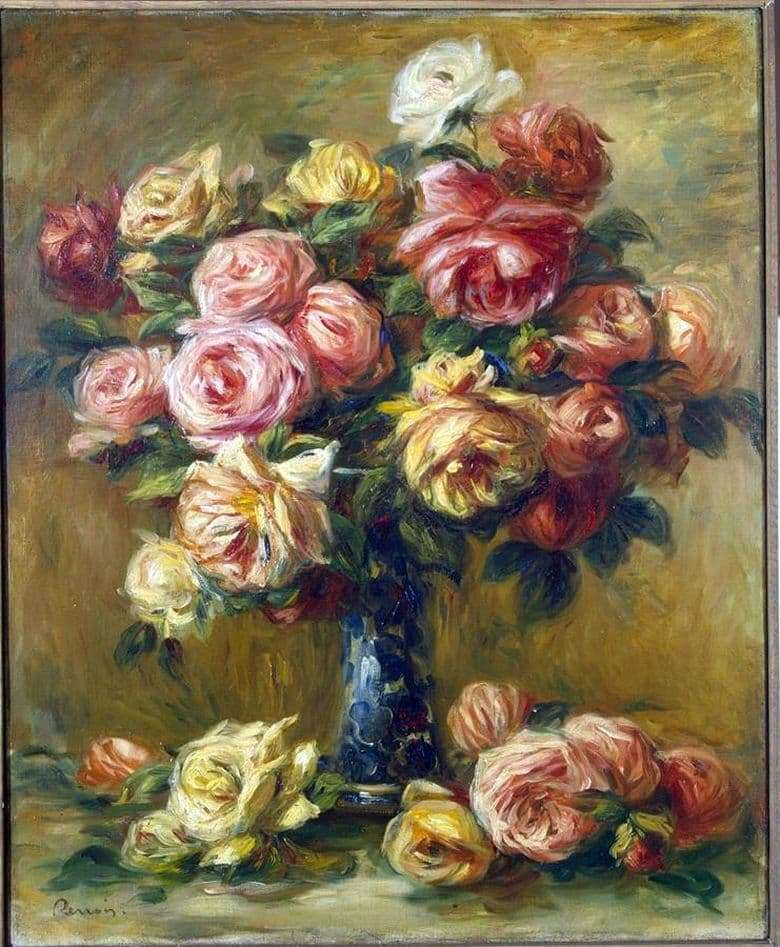 Description of the painting by Pierre Auguste Renoir Flowers in a Vase