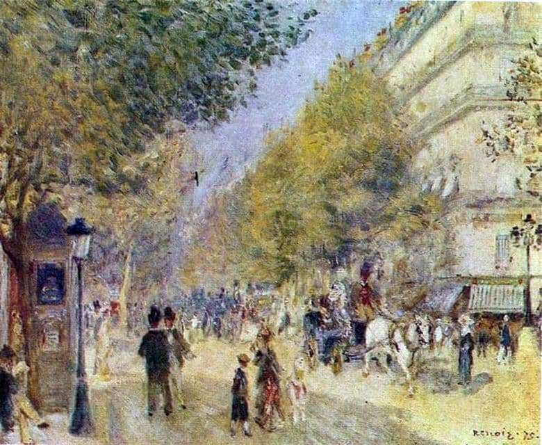 Description of the painting by Pierre Auguste Renoir Grand Boulevards