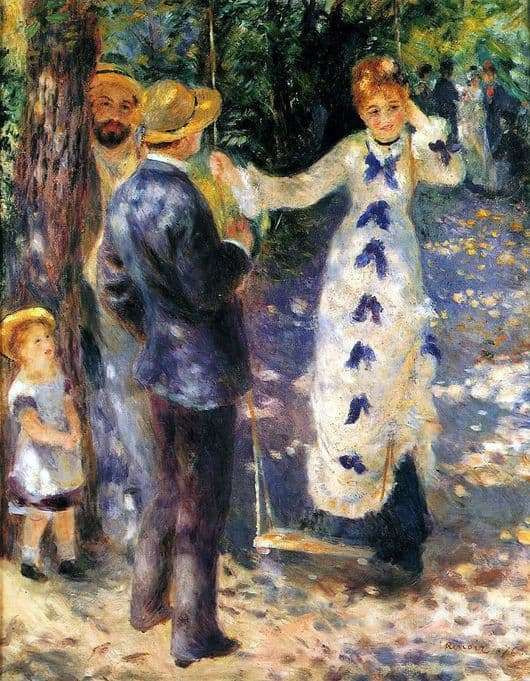 Description of the painting by Pierre Auguste Renoir Swing