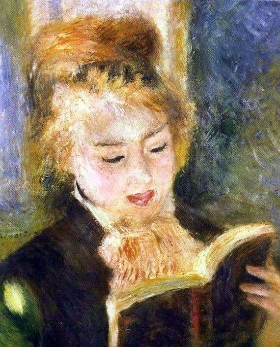 Description of the painting by Pierre Auguste Renoir Reading a Girl