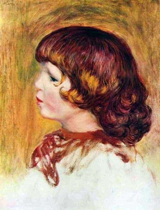 Description of the painting by Pierre Auguste Renoir Coco