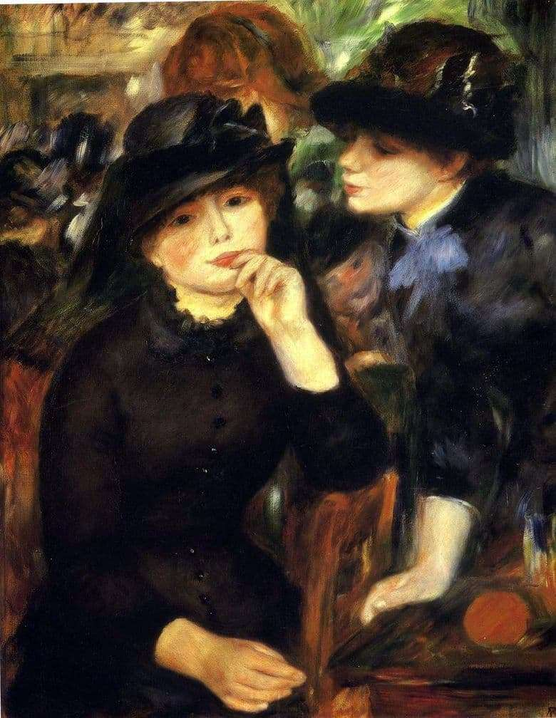 Description of the painting by Pierre Auguste Renoir Girls in Black