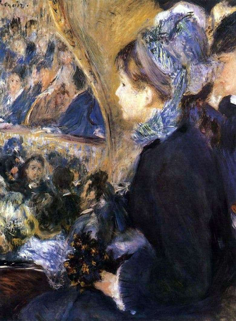 Description of the painting by Pierre Auguste Renoir In the theater